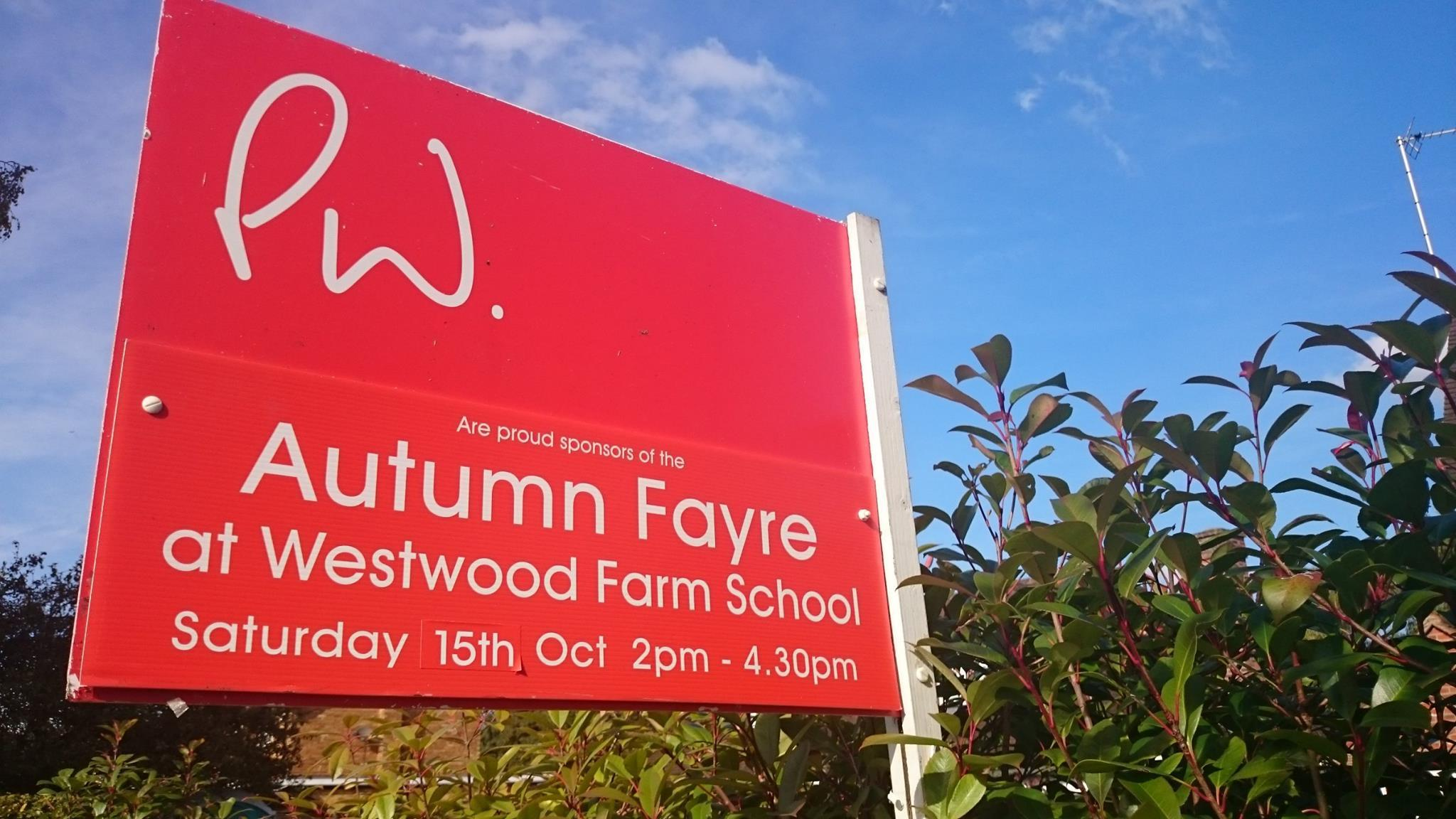 Westwood Farm School Autumn Fayre - Update